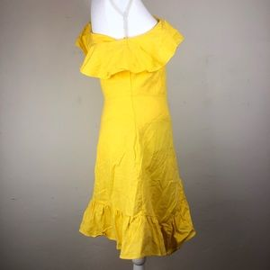 a new day Dresses - A New Day Linen one shoulder ruffle dress NEW 10